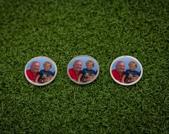 Custom Photo Golf Ball Marker Set - 3 Pack