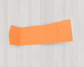 10 Panorama Pocket Enclosures - Oranges - DIY Invitations - Invitation Enclosures for Weddings and Other Events