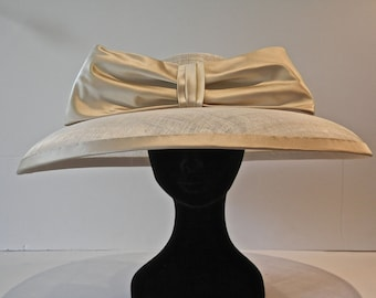 Classic Audrey Hepburn large brim hat.  Perfect wedding hat or hat for the races.