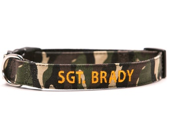 Custom Apocalypse Growl Dog Collar Personalized Embroidery