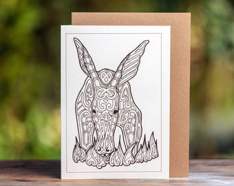 Aardvark Greetings Card