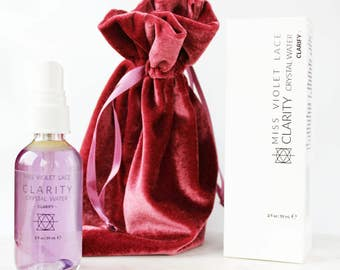 CLARITY Crystal Water | Face + Body Mist | For oily and combination skin | 100% natural + vegan // clarify
