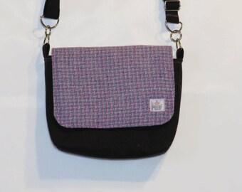 Harris Tweed mini messenger bag