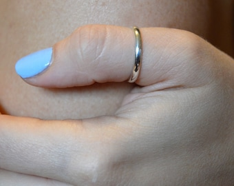Sterling Silver Band Ring, Handmade Silver Ring, Simple Thumb Ring, Pinky Ring, Midi Knuckle Ring, Silver Minimalist Ring, Gift For Her
