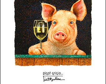 Will Bullas / art print / pigot grigio... / art / humor / animals