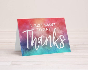 Watercolor Thank You Notes - Set of 6 Cards with Envelopes - Watercolor Thank You Cards - Blank Inside - Folding Note Cards - Mentor Gift