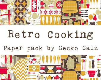 Retro Cooking Mini Paper Pack