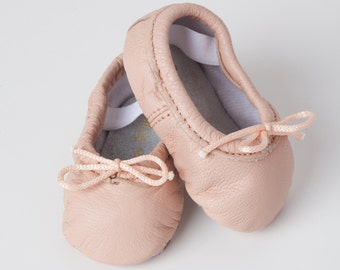 Baby Ballet Slippers - Pink - premie newborn toddler ballet slippers premie newborn toddler ballet slippers Infant moccasin shoes