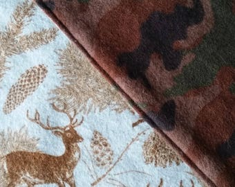 Baby Blanket - Camo and Deer Print