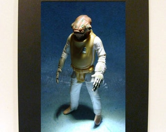 "Framed Star Wars Toy Photograph 4x6"" Admiral Ackbar"