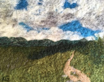 West of Kenosha Pass - Felted wool landscape from Colorado Trail, perfect wall art for hiker, backpacker, or mountain biker