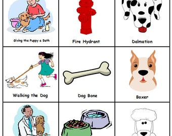 Puppy / Dog Bingo - Printable - 17 boards - Perfect for a Birthday Party - INSTANT DOWNLOAD