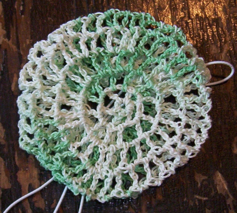 Hair Bun Cover In Cotton Crochet Thread