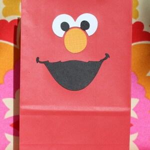 Elmo Birthday Favor Bags