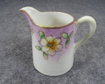 Nippon Hand-Painted Creamer With Crown Stamp