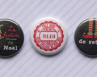 "3 badges 1 ""Christmas Elf"