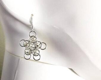 Celtic wings star earrings