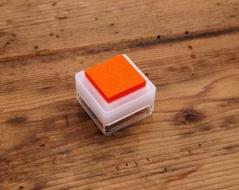 Orange Stamp Ink Pad - Mini Cube