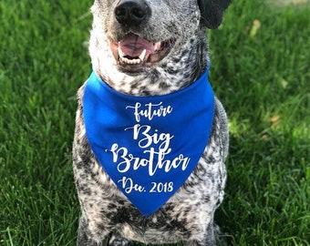 Dog Pregnancy Announcement Bandana, Big Brother Dog Bandana, Big Brother To Be, Future Big Brother Bandana, Pregnancy Announcement Dog, Baby