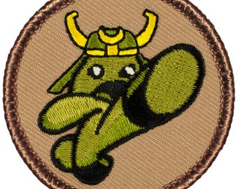 Wasabi Warrior Patch - 2 Inch Diameter Embroidered Patch