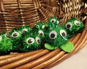 St. Patrick's Day Glittery Warm Fuzzies / Bright Sparkle Pom Pom Critters - 1 inch (Set of 30)