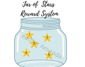 Classroom Reward Jar of Stars