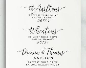 Custom Address Stamp, Return Address Stamp, Wedding Address Stamp, Calligraphy Address Stamp, Self inking stamp, Eco Mount, Address Stamp