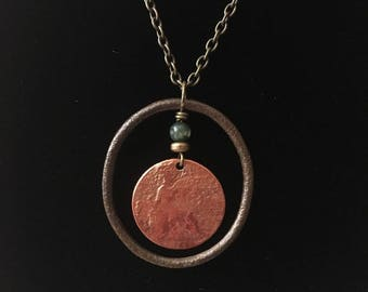 Edward VII Bronze Farthing & Post Medieval Harness Ring Pendant