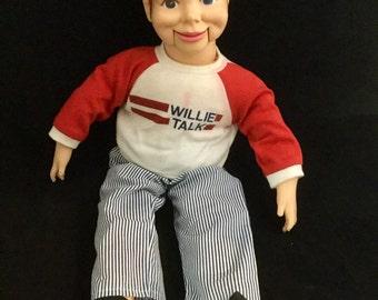 Vintage Ventriloquist Doll, Dummy, Willie Talk,