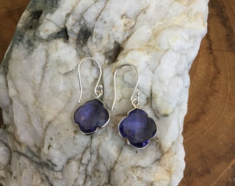 Purple  Crystal Dangles