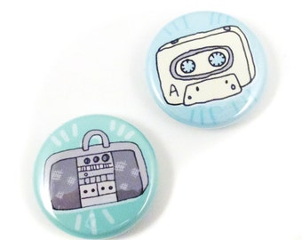 Old School Music Button Set