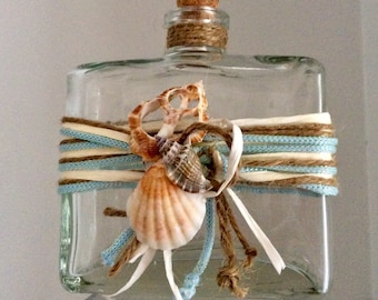 Baptism nautical starfish oil bottle