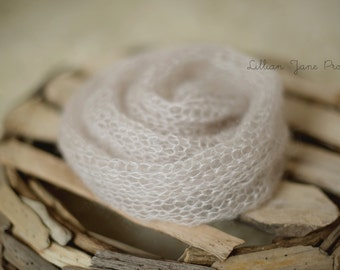 Pure Naturals Newborn Stretch Knit Wrap in Dreamy Cream Beige