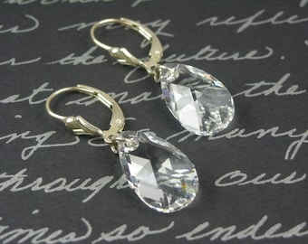Water Pear Crystal Earrings