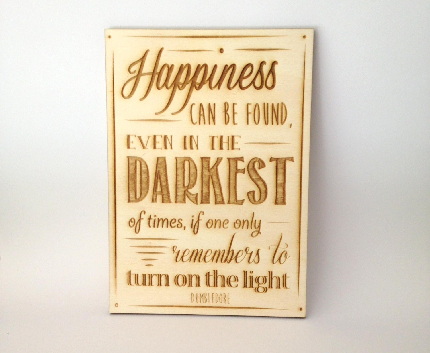 Small Harry Potter quote sign Happiness can be found Harry