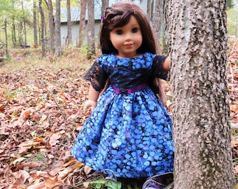 "Blue Batik Holliday 18"" Doll Dress, fits like AG clothes"