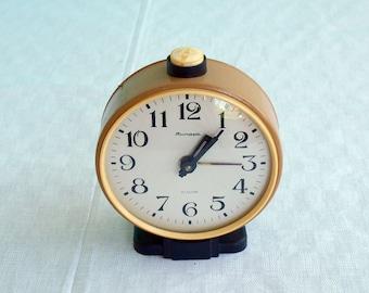 Vintage soviet union alarm clock Jantar mechanical clock