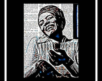 607 Maya Angelou Vintage Dictionary Art