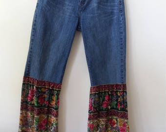Redesigned BELL BOTTOM JEANS, Size 8