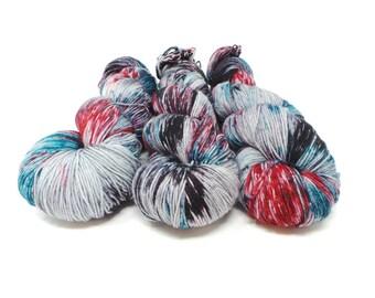 Dark Side - 4ply Elegant Sock hand dyed yarn – Superwash Merino + Nylon 75/25