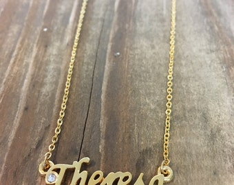 Theresa Necklace in Gold or Silver