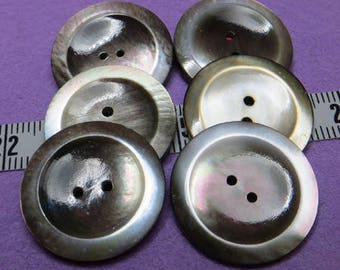 Buttons in Pearl Grey beige 2,2 cm (6) - #5742_22