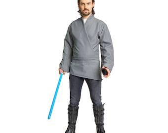 Jedi Costume Tunic Shirt Adult Gray