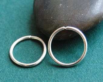 Silver Hoop Earrings * Pair of Hoops * Silver Sleeper Hoops * Tiny Hoop Earrings * Sterling Hoops * Choose Your Size