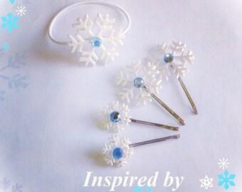 Snowflake Hair Pins Frozen Inspired Elsa Bobby Pin