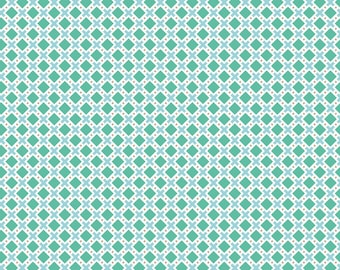 Modern Minis Modern X Mint by Lori Holt of Bee in My Bonnet for Riley Blake, 1/2 yard