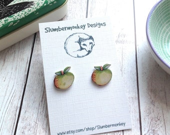 Teacher Appreciation Gift, Apple Stud Earrings, Thank You Teacher Gift, End of Term, Form Tutor, Graduation, Gift for Her, Leaving Gifts.