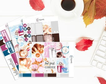 But First, Coffee || MINI Weekly Kit || Stickers for use with the Erin Condren Life Planner