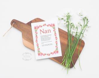 Birthday Card, Best Nan, Nan Card, Nan Definition, Card For Nan, Card For Her, Funny Card, Funny Birthday, Special Nan, Happy Birthday Nan