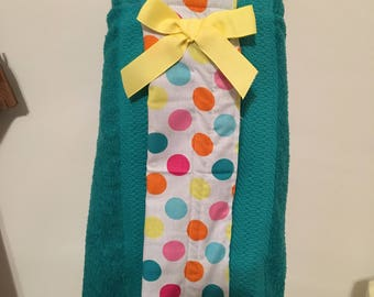 Swim towel wrap for girls- ready to ship, size small